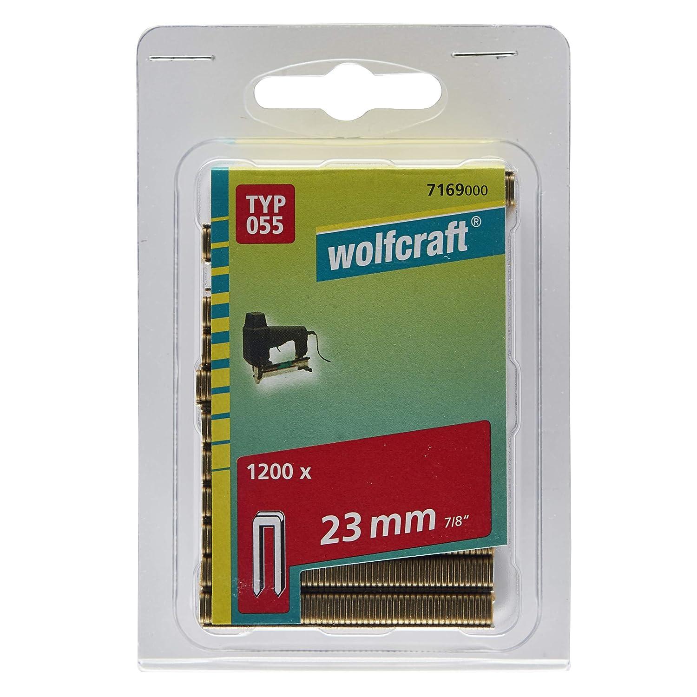 Wolfcraft 7169000 Agrafes /étroites r/ésine Type 055 23 mm Lot de 1200