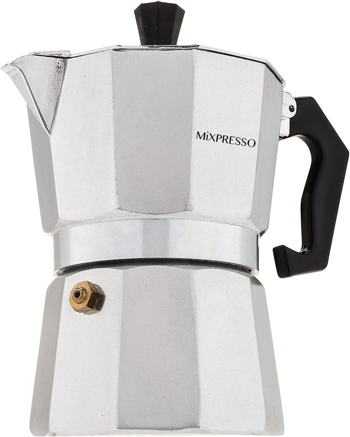 Moka Pot 3 Cup (6 oz) Coffee Maker- Stovetop Espresso Maker Easy To Use And Clean Italian Design For Best Espresso Coffee - By Mixpresso Coffee