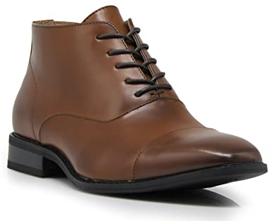 33eeddbc97f8 Gravity01 Men Classic Captoe Chukka Ankle Chelsea Oxfords Dress Boots Lace  Up Dress Shoes