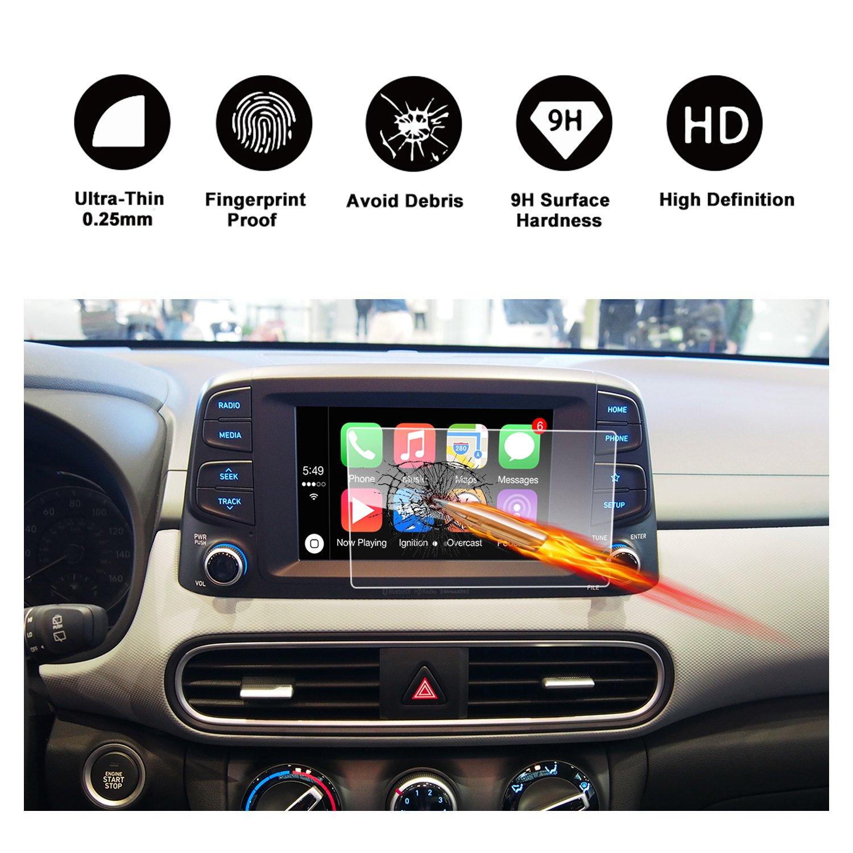 2017年2018年Hyundai Elantra Gtブルーリンクタッチ画面車表示ナビゲーション画面プロテクター、Ruiya HDクリア強化ガラス車in-dash画面保護フィルム 7-Inch B077VN74C5   7Inch