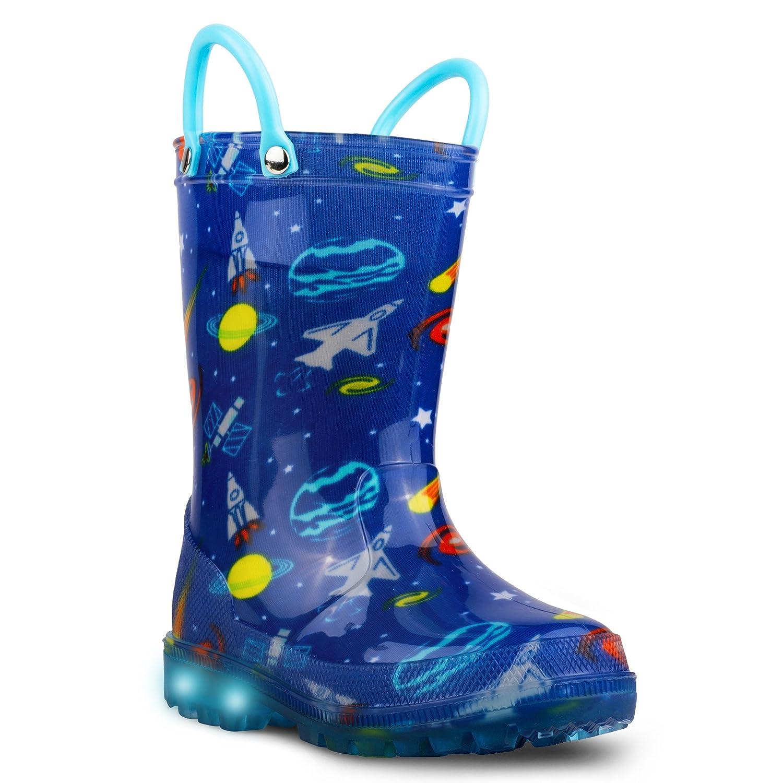 Chillipop Children's Light Up Rain Boots, Little Kids & Toddlers, Boys & Girls SCR800P-BLU-T5
