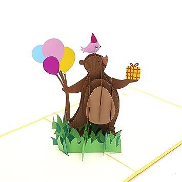 Tarjeta de felicitación de fiesta de Liif, tarjeta 3D con diseño de ...
