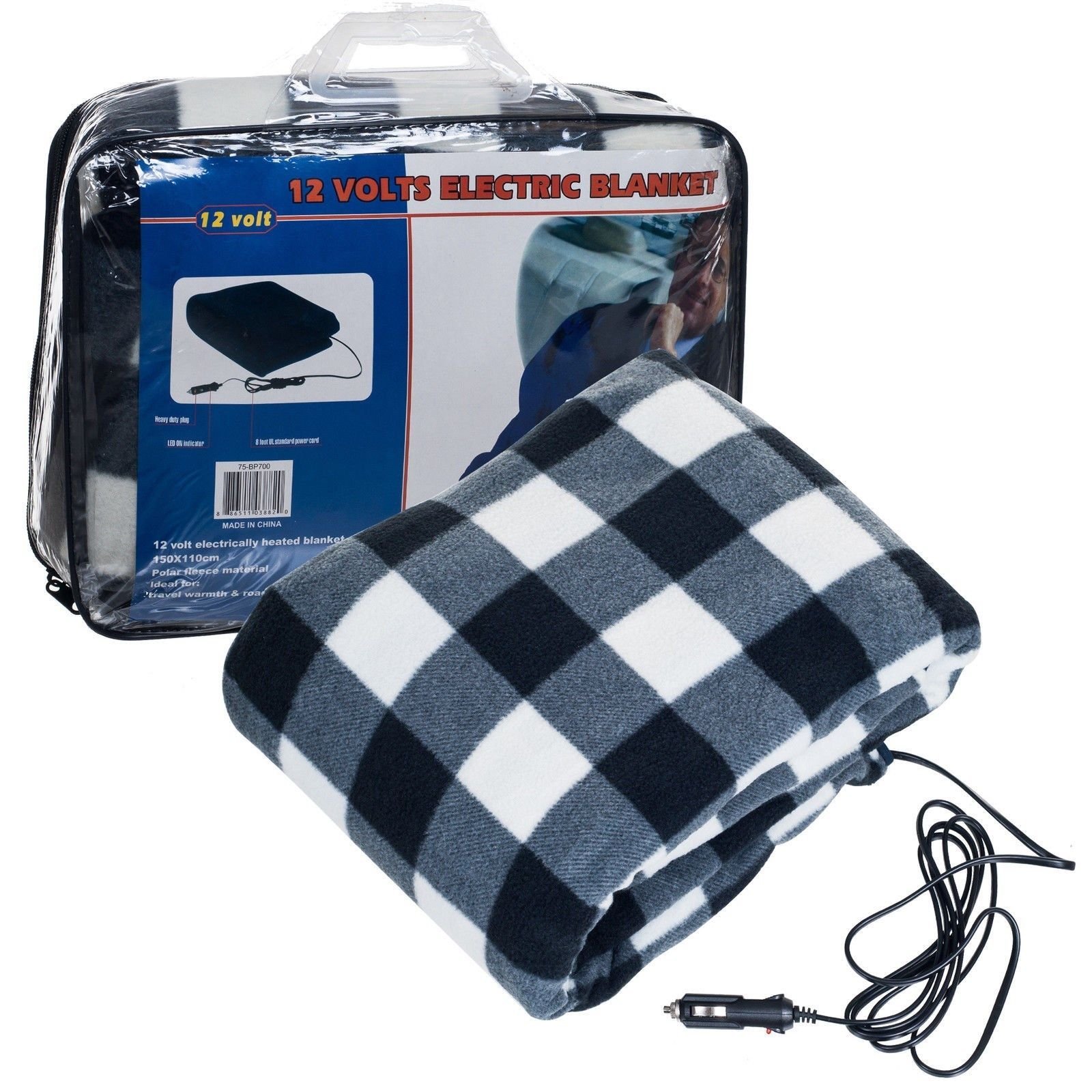 Rose Shop Blue 43 x 59 inches Electric 12 Volts Blanket Automobiles