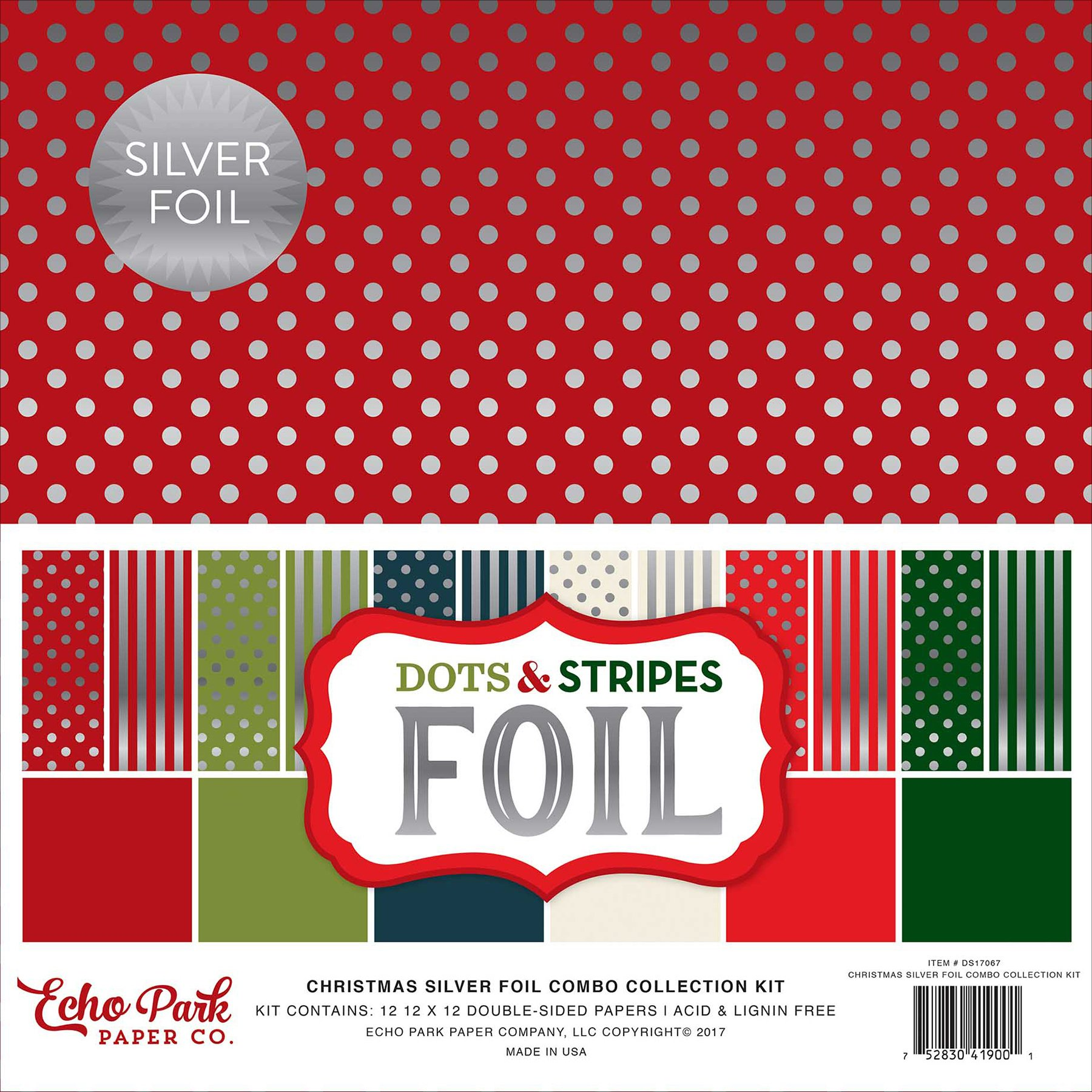 Echo Park Paper Company Silver Foil Combo Collection Kit by Echo Park Paper Company