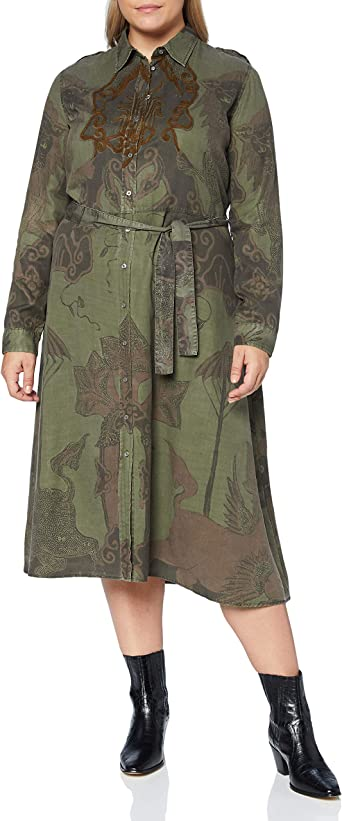 Desigual Vest/_Pisa Robe d/écontract/ée Femme