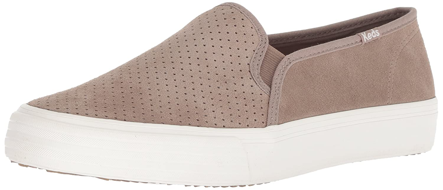 Keds Women's Double Decker Perf Suede Sneaker B078WKLZMC 8.5 M US|Taupe