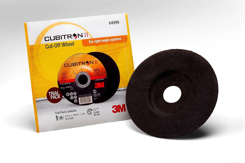 T27 Cubitron II 60440299513 3M Cut Off Wheel Trial Pack Ceramic Precision Shaped Grain 6 x 045 x 7//8 6 Diameter