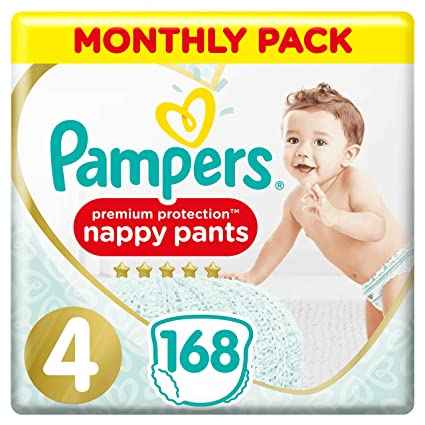 74 Nappy Pants Pampers Baby-Dry Nappy Pants Size 4