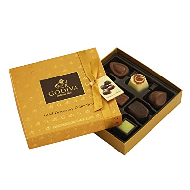 Godiva, Gold Discovery bombones pralines surtidos caja regalo 9 ...