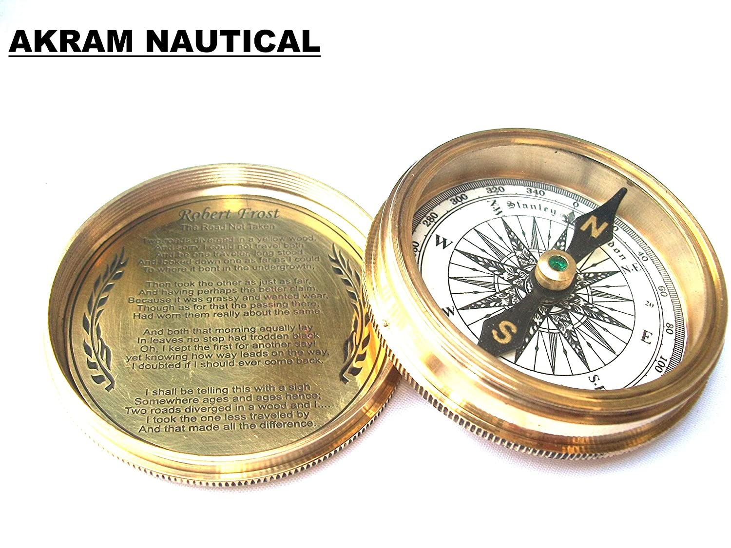 Halloween STANLEY LONDON POCKET 1885 COMPASS VINTAGE BRASS NAUTICAL COMPASS