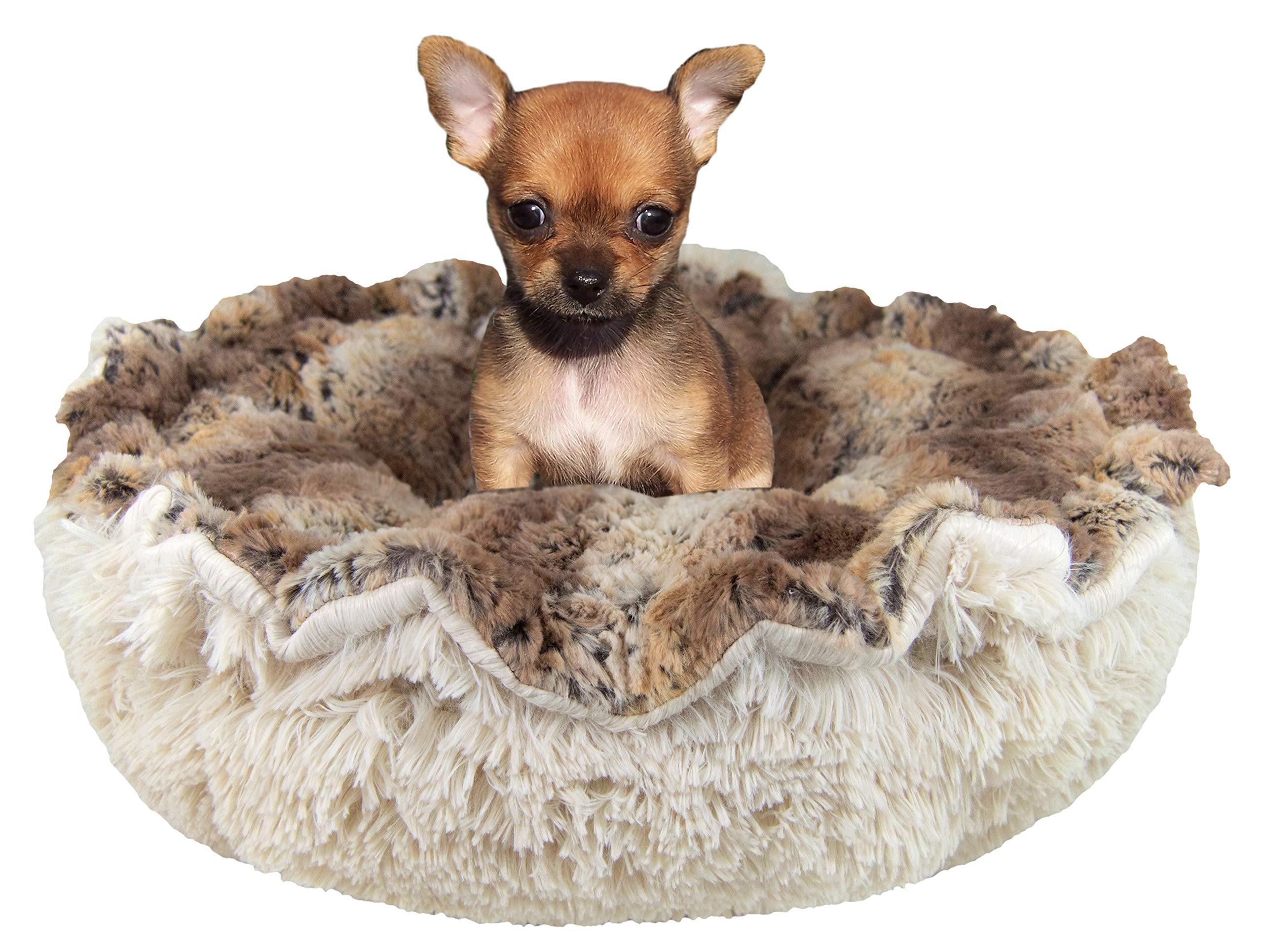 Bessie and Barnie Ultra Plush Simba/Blondie Luxury Shag Deluxe Dog/Pet Cuddle Pod Bed by Bessie + Barnie