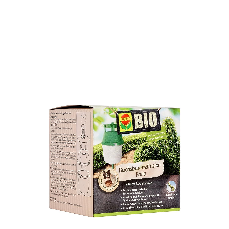 COMPO Buchsbaumzünsler-Falle, Inkl. 3 Lockstoff-Dispenser, Insektizid-frei 22077