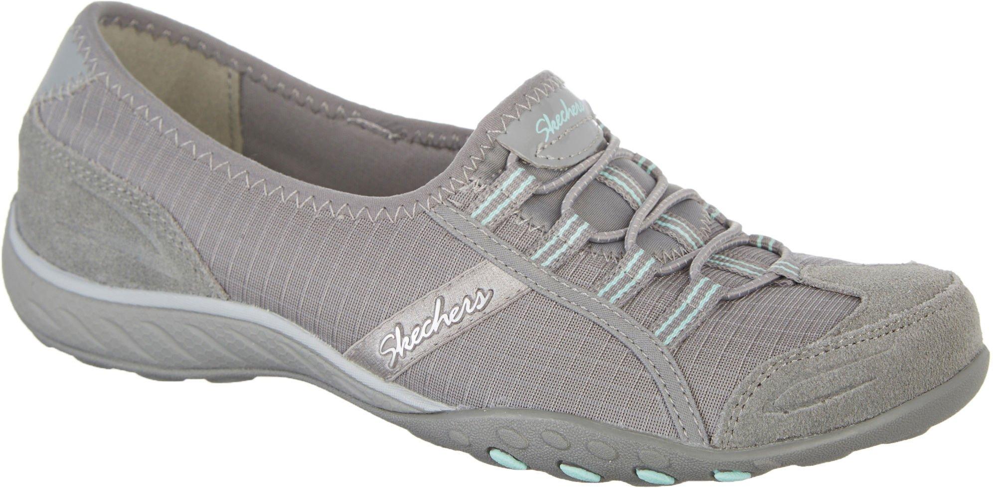 Skechers Relaxed Fit Breathe Easy Allure Womens Slip On Sneakers Gray 8