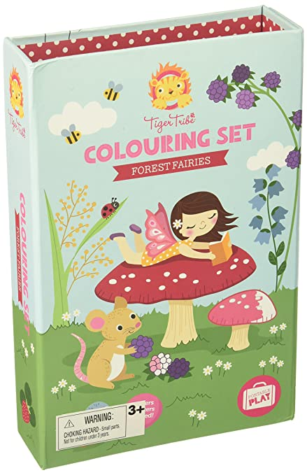 651836917d Amazon.com  Tiger Tribe Forest Fairies Colouring Set  Toys   Games