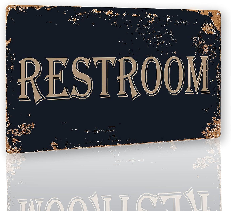 SovavaVintage Restroom Signs Rustic Decor Bathroom Door Signs for Offices Businesses Restaurants 8X12 Inch