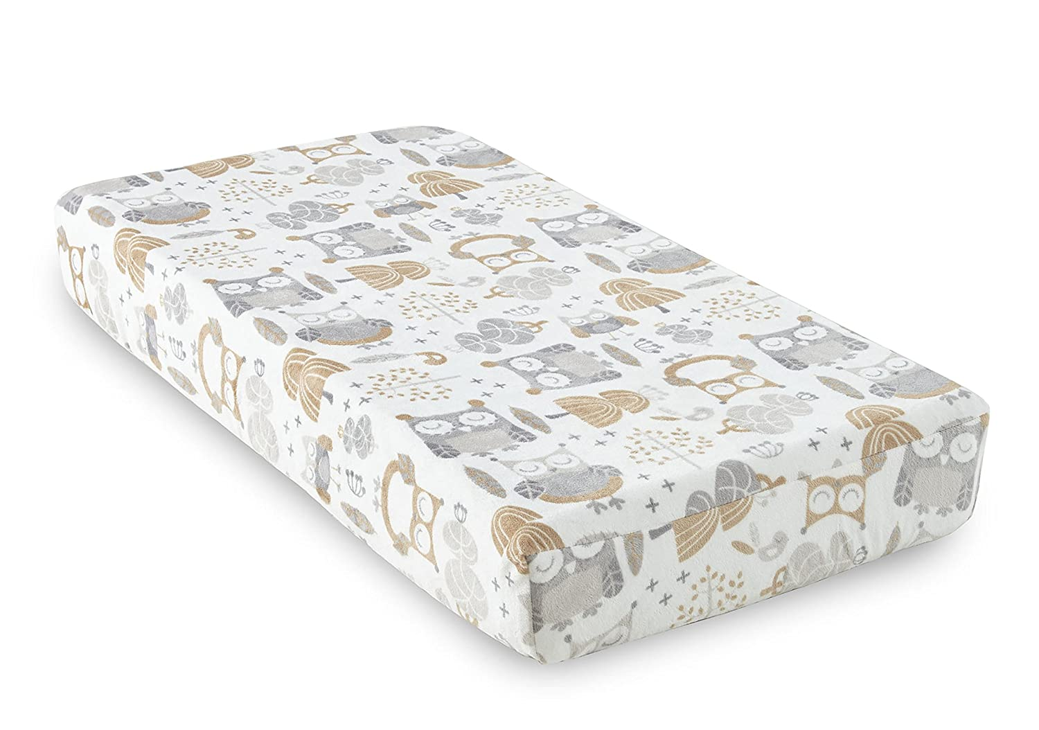 Levtex Home Baby Night Owl Changing Pad Cover, Taupe