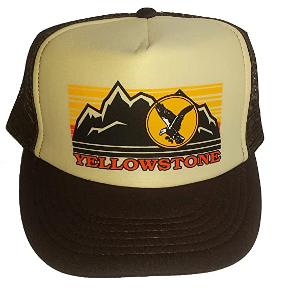 Yellowstone Mesh Trucker Hat Cap Snapback Brown Tan Montana Idaho