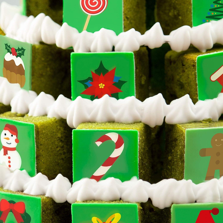 Pixcake 1 Recette Inratable 2 D/éco G/âteau No/ël Kit P/âtisserie Enfant et Adulte 1 Toque Offerte Support pour Pi/èce Mont/ée Kit D/écore et D/évore No/ël
