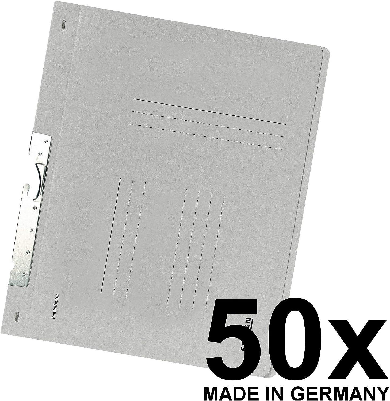 Made in Germany Original Falken 50er Pack Pendular Pendelhefter Aus Recycling-Karton mit Beh/ördenheftung und Schlitzstanzung f/ür DIN A4 blau Hefter Blauer Engel