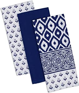 "DII Cotton Printed Dish Towels, 18x28"" Set of 2, Decorative Oversized Kitchen Towels,Perfect Home and Kitchen Gift-Tunisia"