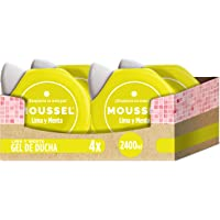 Moussel Gel de Ducha, Lima y Menta - Pack de 4 x 600 ml, Total: 2400 ml
