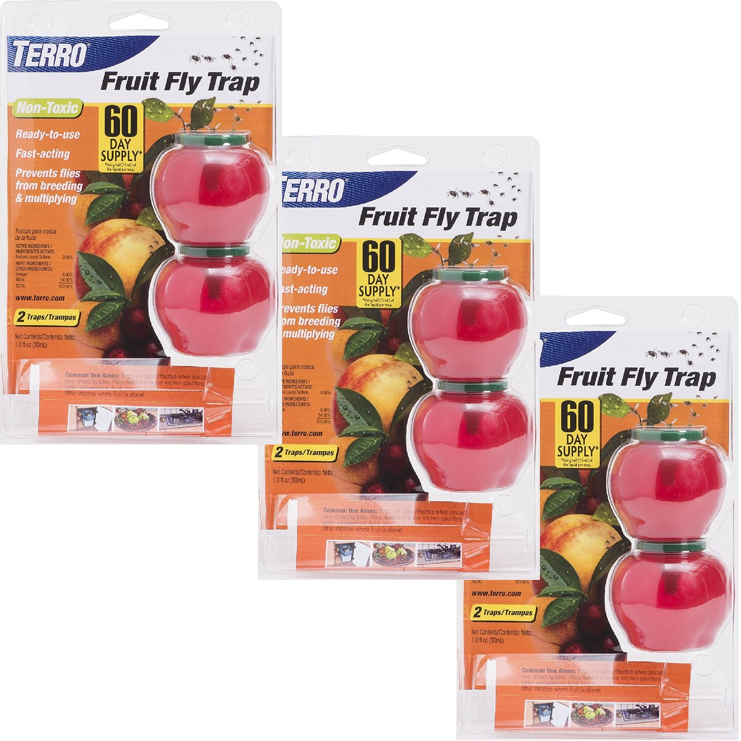 Woodstream TERRO Fruit Fly Trap – 6 Pack T2502