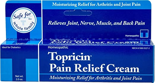 Topricin, Pain Relief Cream for Stiffness, Joint Pain and Neuropathy Pain