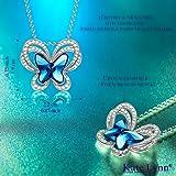 Women Butterfly Swarovski Crystal Pendant Necklace