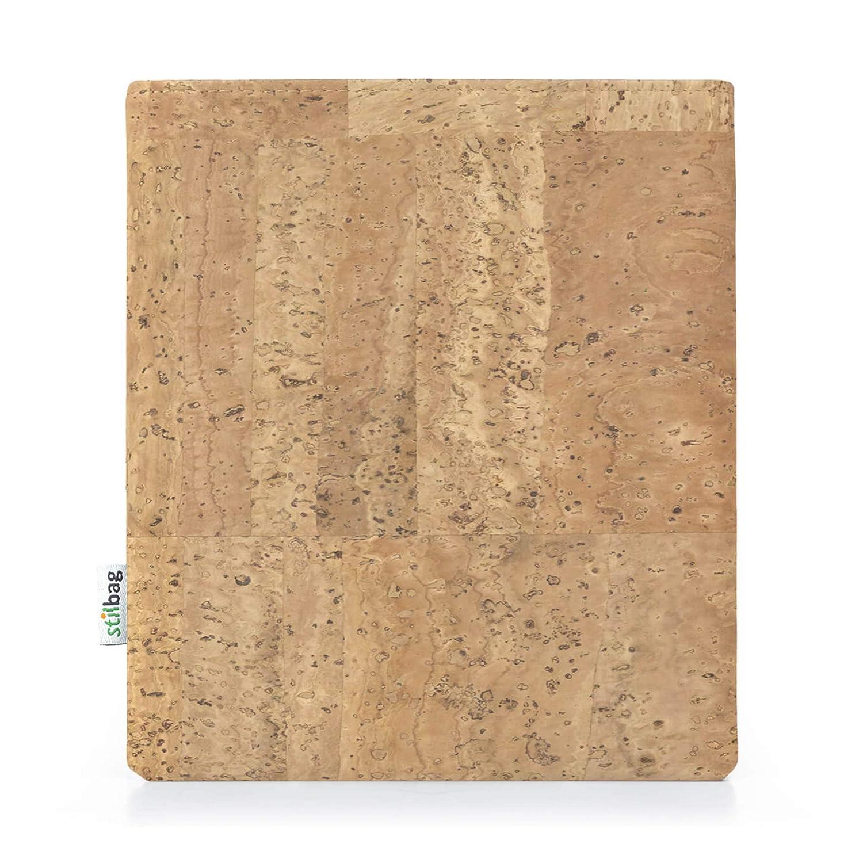 Corcho Natural Funda Stilbag eReader Vigo para Kobo Forma Made in Germany eBook Reader Bag Fieltro de Lana marr/ón