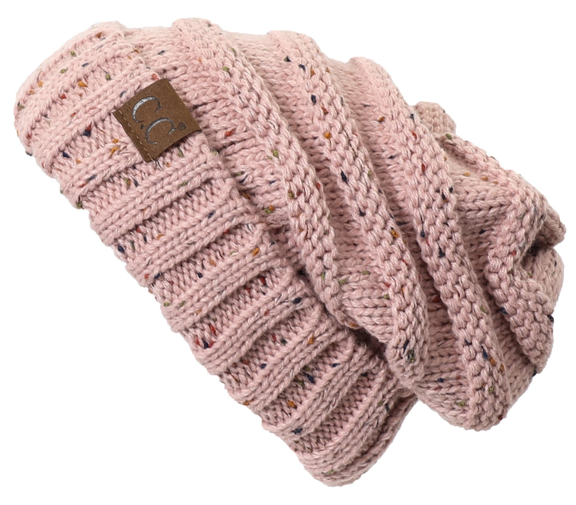 74204597529 Galleon - H-6100-2071 Funky Junque Oversized Beanie - Indi Pink (Confetti)