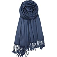 42ef9d348b8ef Achillea Large Soft Silky Pashmina Shawl Wrap Scarf in Solid Colors