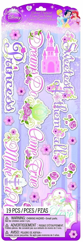 EK Success Brands Disney Chipboard Stickers, Princess Titles EKS 51-50061 207566