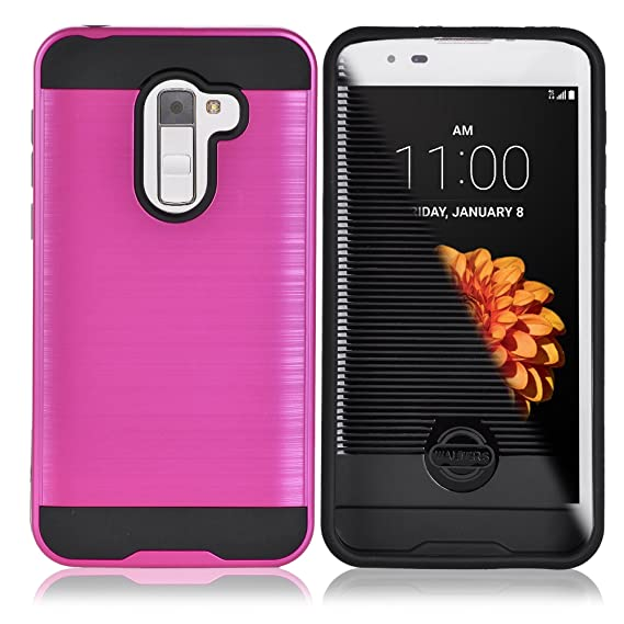best authentic 08392 983b0 Alcatel Walters, A30 Fierce, 5049Z, Dual Layer Brushed Metal Hardcase,  Durable Hard Case for Alcatel, A30 Fierce, Shockproof Case (MAGENTA)