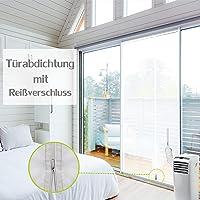 ANK-SNL raamafdichting voor mobiele airconditioners, airconditioning, wasdroger   airconditioninguitlaat   Hot Air Stop voor bevestiging aan universeel raam - omtrek tot 400/300 cm Tür 210 X 90 cm Reißverschluss