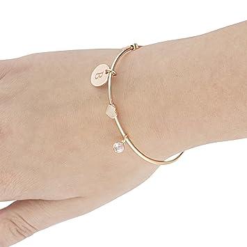 Cathy \'s Concepts Brautjungfer Draht Armband mit Herz Anhänger ...
