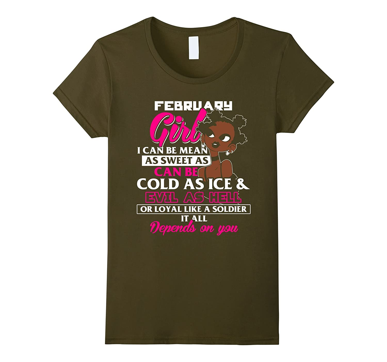 February Girl Depends Shirt Black-Teesml
