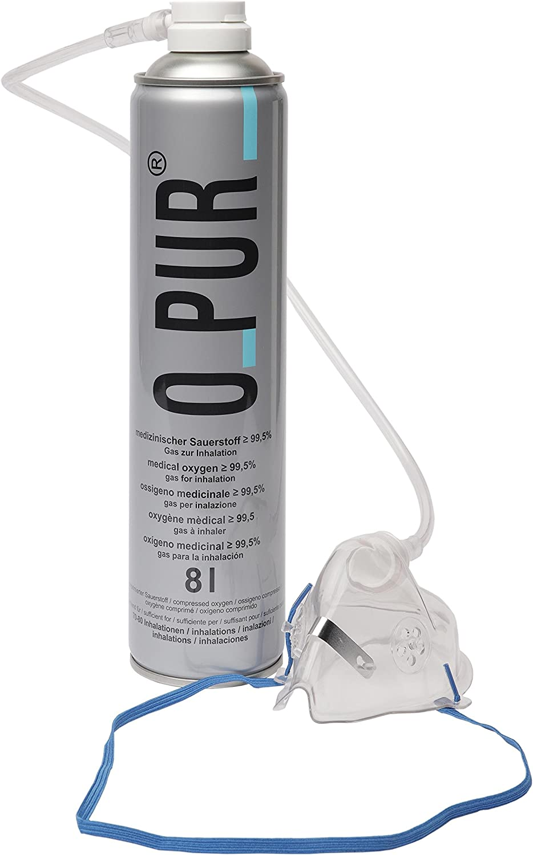 oPur O-Pur Sauerstoffflasche con Maske