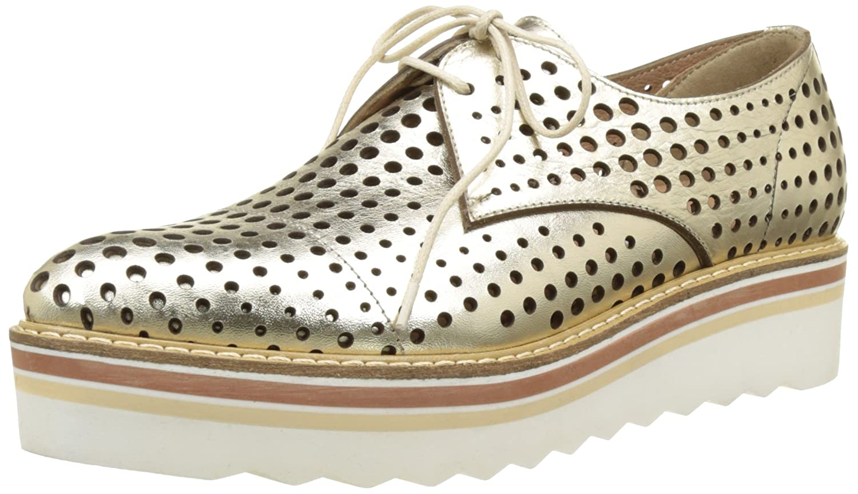 Donna PIU 52719 Ruby, Zapatos de Cordones Derby para Mujer 39 EU|Or (Vacchetta Gold)