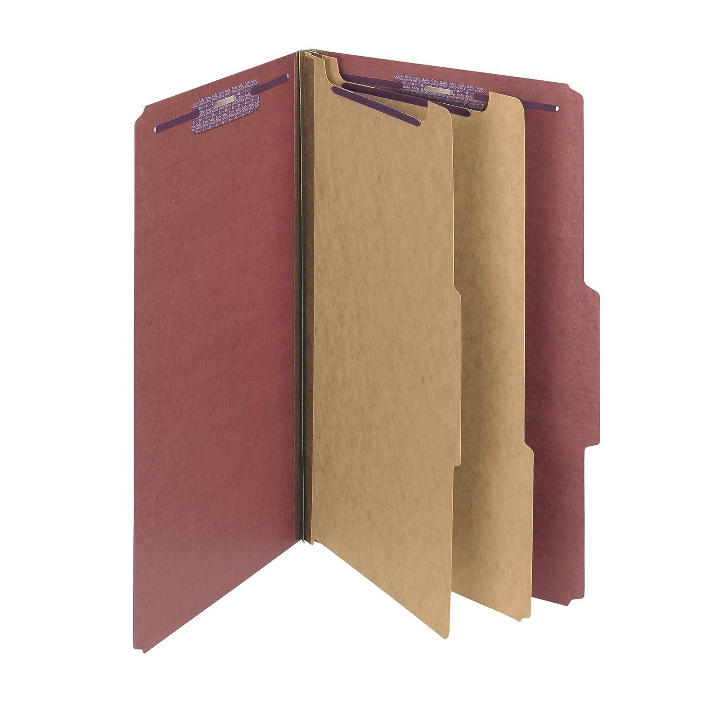 muchas concesiones Pressboard Classification Folders Folders Folders wSelf Tab, Legal, Six-Section, rojo, 10 Box, Sold as 1 Box  apresurado a ver