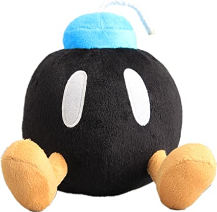 "Super Mario Bros Bob-omb Plush 5/"" All Star Collection Little Buddy Toys"