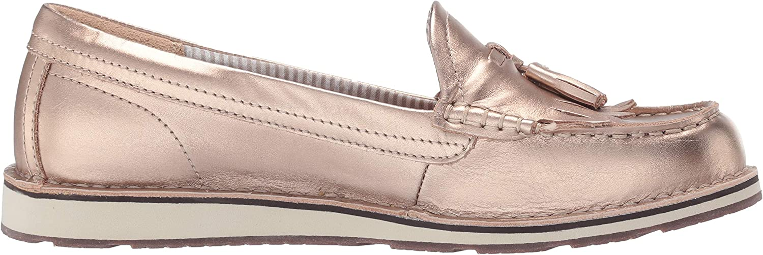 ARIAT Damen Cruiser, Schlupfschuhe, Dirty Tan Wildleder/Stars and Stripes Print Rose Gold