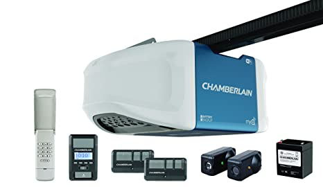Chamberlain WD1000WF Garage Door Opener, 1 25 HPS, Wi-Fi Built In for MyQ  Smartphone Control, Battery Backup When Power Goes Out and Ultra-Quiet Belt