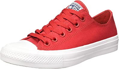 all red converse shoes