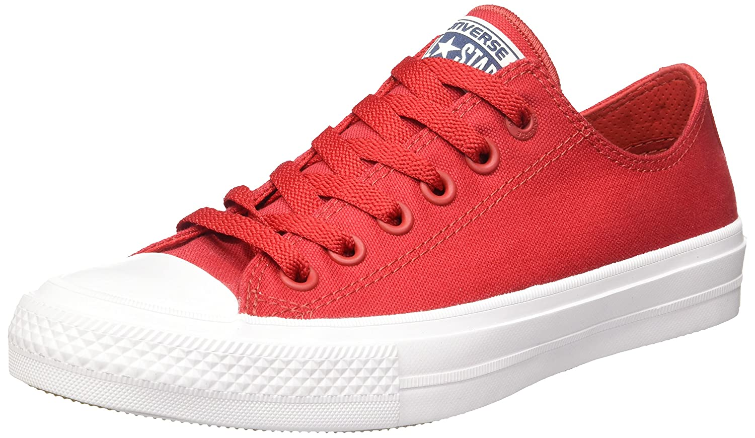 Salsa Red White Navy Converse Chuck Taylor Ii Ox Ankle-High Canvas Fashion Sneaker