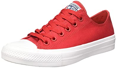 Converse Unisex Chuck Taylor All Star II Ox Salsa Red/White/Navy Sneaker