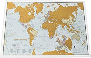 Maps International - Scratch the World® - Travel Edition Map Print - 42 x 29.7cm
