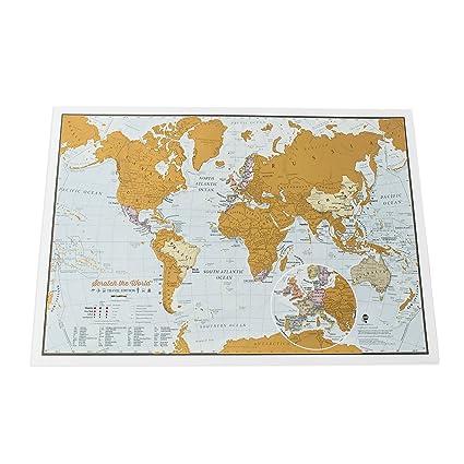 Carte Du Monde Scratch The World édition De Voyage Cadeau De Voyage Format A3 42cm Largeur X 297 Cm Hauteur