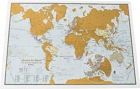 Maps International - Mapa rascable, edición de viaje, cartografía detallada al máximo - 42 x 29,7cm: Lovell Johns: Amazon.es: Oficina y papelería