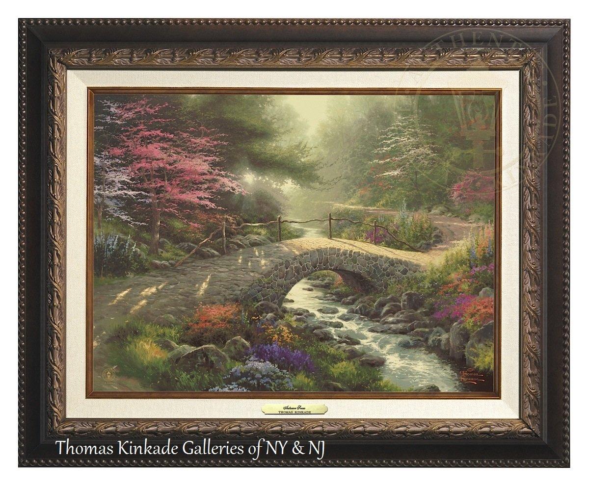 Thomas Kinkade Bridge of Faith 12'' X 16'' Canvas Classic (Aged Bronze)