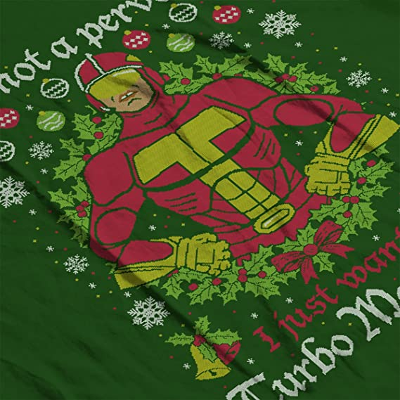 Turbo Man Not A Pervert Jingle All The Way Christmas Knit Pattern Kids Hooded Sweatshirt: Amazon.es: Ropa y accesorios